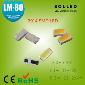 Lm-80 Epistar 3014 SMD LED Specifications 30mA 13-15lm 0.1W