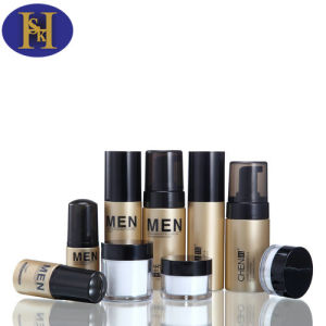 20g-50g Plastic Round Jar Perfume Cream Bottles for Men pictures & photos