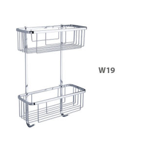 Corner Stainless Steel Bathroom Accessories Net/ Storage Rack Shelf (W19) pictures & photos