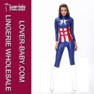 Captain America Costume Wholesale Fancy Dress (L15107) pictures & photos