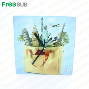 Sublimation Coated Glass Photo Frame with Clock Manufacturer (BL-26) pictures & photos
