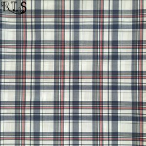 100% Cotton Poplin Woven Yarn Dyed Fabric for Shirts/Dress Rls60-7po