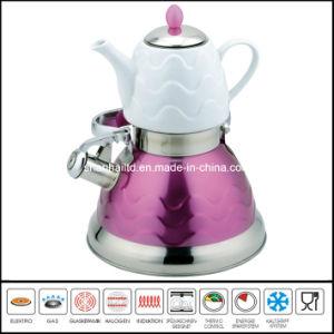 3L+0.75L Double Water Pot with Ceramic Teapot pictures & photos