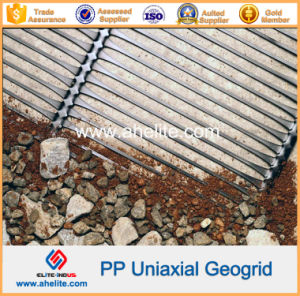 Plastic HDPE PP Uniaxial Geogrids 80kn/M pictures & photos