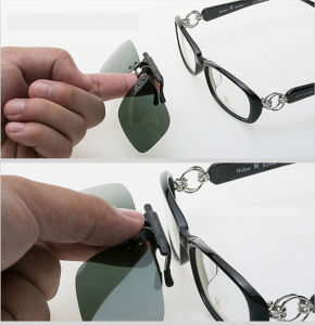 UV400 Polarized Sunglasses Clip on Light Super Sun Glasses Men Unisex Eyeglasses Deep Green Lens Anti-UVA Aviate Drive Sunglasses pictures & photos
