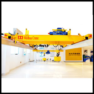 Overhead Crane with Lifing Weights in Exhibition Hall