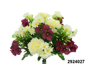 Artificial/Plastic/Silk Flower Carnation/Hydrangea/Daisy Mixed Bush (2924027) pictures & photos