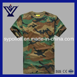 Mens Casual Camo Military Quick Dry Crew Neck T- Shirt (SYSG-255) pictures & photos