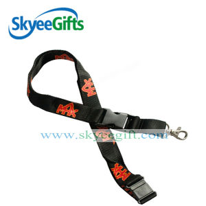 Black Printing Logo and Word Design Lanyards for Exhibition pictures & photos