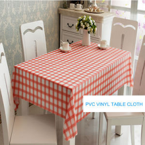Modern Design Cheap PVC Table Cloth Factory pictures & photos
