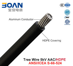 Tree Wire, Aerial Cable, 5 Kv, AAC/HDPE (ANSI/ICEA S-66-524) pictures & photos