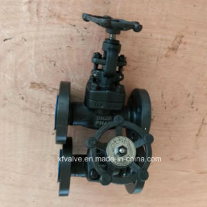 DIN Forged Steel A105 Flanged Connection End Globe Valve pictures & photos