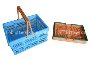 Large Size Folding Plastic Basket (FB003-1) pictures & photos