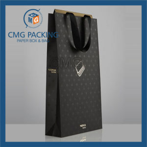Luxury Customized Gold Logo UV Printing Paper Hand Bag (CMG-PGB-073) pictures & photos