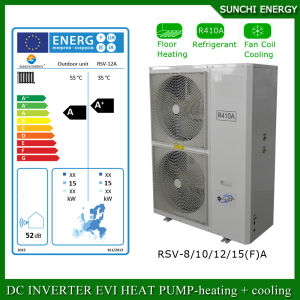 Germany Cold -25c Winter Area Radiator Heating Room +55c Dhw 12kw/19kw/35kw/70kw Evi Monobloc Air Source Hot Water Heat Pump pictures & photos