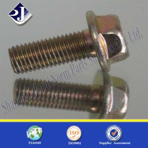 Yellow Zinc Hexagon Flange Bolt pictures & photos
