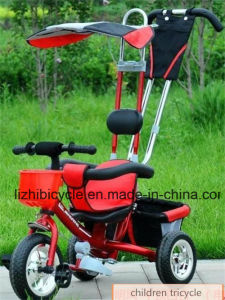 Children Three Wheel Tricycle with Push Hand Buggy pictures & photos
