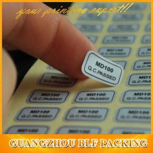 Silver PVC Warranty Sticker (BLF-S081) pictures & photos