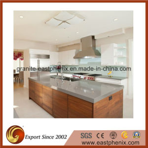 Grey Artificial Quartz Stone Kitchen Countertop pictures & photos