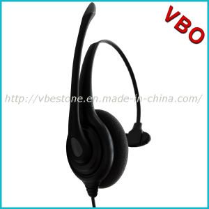 Hot Sale Monaural Call Center Telecommunication Headset Rj 9 pictures & photos