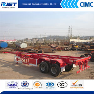 3 Axle Skeleton Container Semi Trailer pictures & photos
