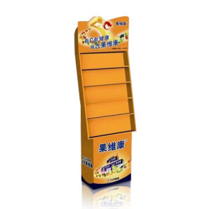 China Cardboard Point of Sales Display Paper Floor Display for Health Foods pictures & photos