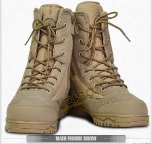 Tactical Desert Boots of Waterproof Nylon and Cowhide Leather pictures & photos