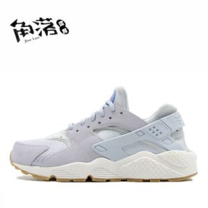 Three Color Mesh and Leather Sport Shoes (SP-018) pictures & photos