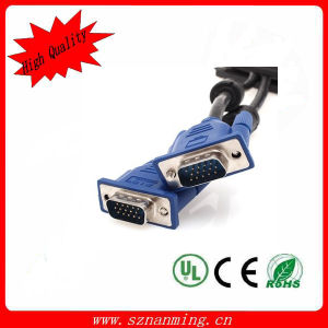 Shielded VGA Cable Male to Male Connection Cable - Blue pictures & photos