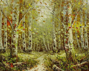 Handpainted Canvas Painting Landscape Oil Painting for Living Painting with Wood Frame pictures & photos