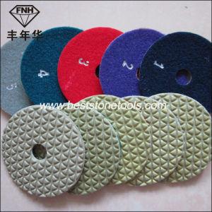 5 Step Angle Grinder Dry Flexible Stone Diamond Polishing Pad