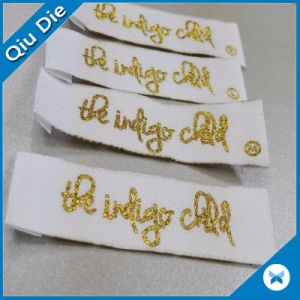 Own Logo Woven Labels for Man′s Coating Clothing Badge pictures & photos