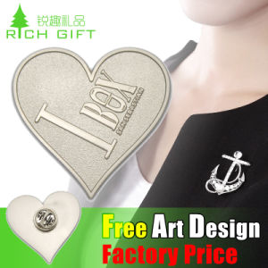 High Quality Stainless Iron Heart Shaped Custom Guy Pin pictures & photos