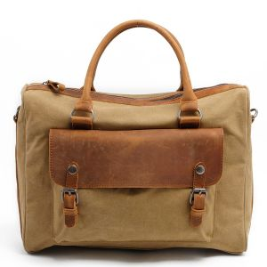 Redswan Heavy Canvas Man Formal Briefcase Handbag with Genuine Leather Cover (RS-2025F) pictures & photos