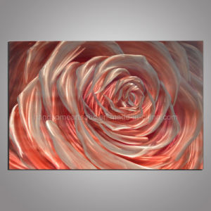 Pink Rose Metal Craft / Aluminum Painting for Decor pictures & photos