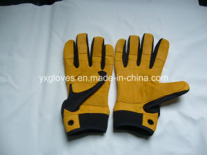 Weigth Lifting Glove-Cow Leather Working Glove-Safety Glove-Leather Glove pictures & photos
