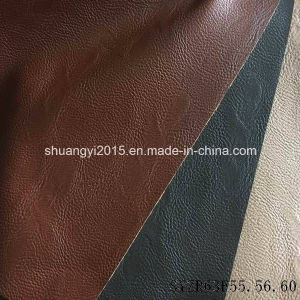 Fashion Two Tone Color PU Synthetic Leather for Shoes pictures & photos