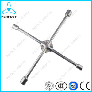 Carbon Steel Cross Rim Wrench with Iron Pad pictures & photos