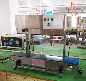 Continuous Seal Machine with Rise and Fall Heat Sealing Line Conveyor for Stand Bag and Standing Pocket pictures & photos