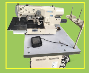 Used Mitsubishi Single Needle Computerized Pattern Sewing Machine (PLK-G2010R) pictures & photos