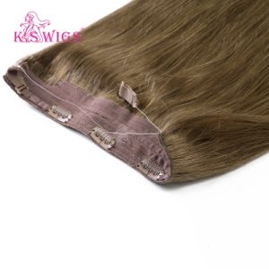 Double Drawn 100% Human Remy Halo Hair Extension pictures & photos