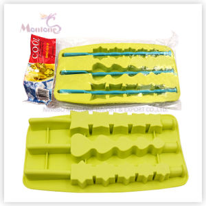 Customized Popsicle-Shaped Ice Mold, Silicone Ice Cube Tray pictures & photos