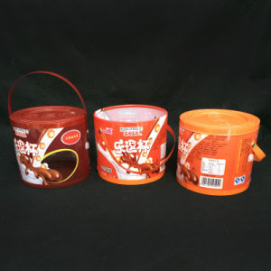 custom print plastic tube cylinder box (round box) pictures & photos