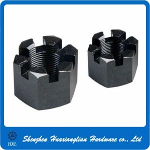 Grade4.8 Zinc Plated Steel Hex Slot Castel Nut Kee Nut pictures & photos