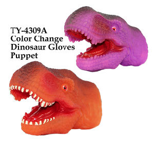 Funny Color Change Dinosaur Gloves Puppet pictures & photos