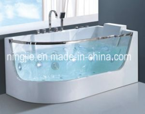 Luxury Glasses Acrylic Massage Bathtub Whirlpool Bath Nj-3025 pictures & photos