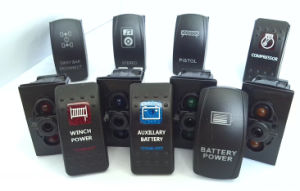 Waterptoof Blue LED Rocker Switch Momentary Winch in out Arb Carling 4WD 12V 4X4 pictures & photos