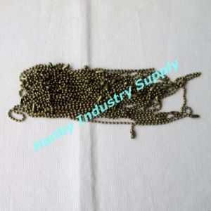 Bronze Color 15cm Long 2.4mm Metal Ball Chains Hang Tag String for Garment (P160711B) pictures & photos