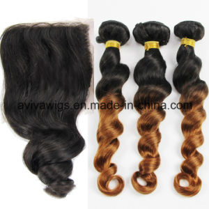 Loose Wave 100% Virgin Hair Ombre Natural Virgin Hair Extension pictures & photos