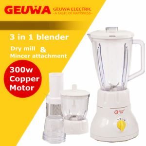 Mult-Functional 3 in 1blender with Dry Mill and Mincer Attachment pictures & photos